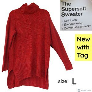 🌹$15ifbundle2NWT cowlneck tunic supersoft sweater